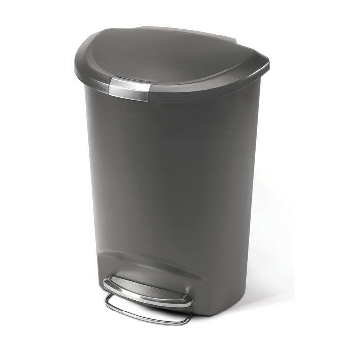 Simplehuman Plastic Step On 13 Gallon Trash Can Simplehuman Kitchen Trash Cans Trash Can Simplehuman trash can 13 gallon