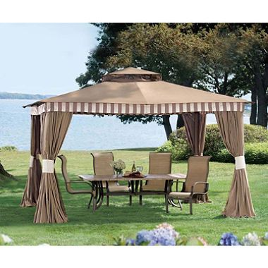 Sunjoy Stately 12 Feet X 10 Feet Gazebo 499 00 Backyard Canopy Pergola Canopy Outdoor