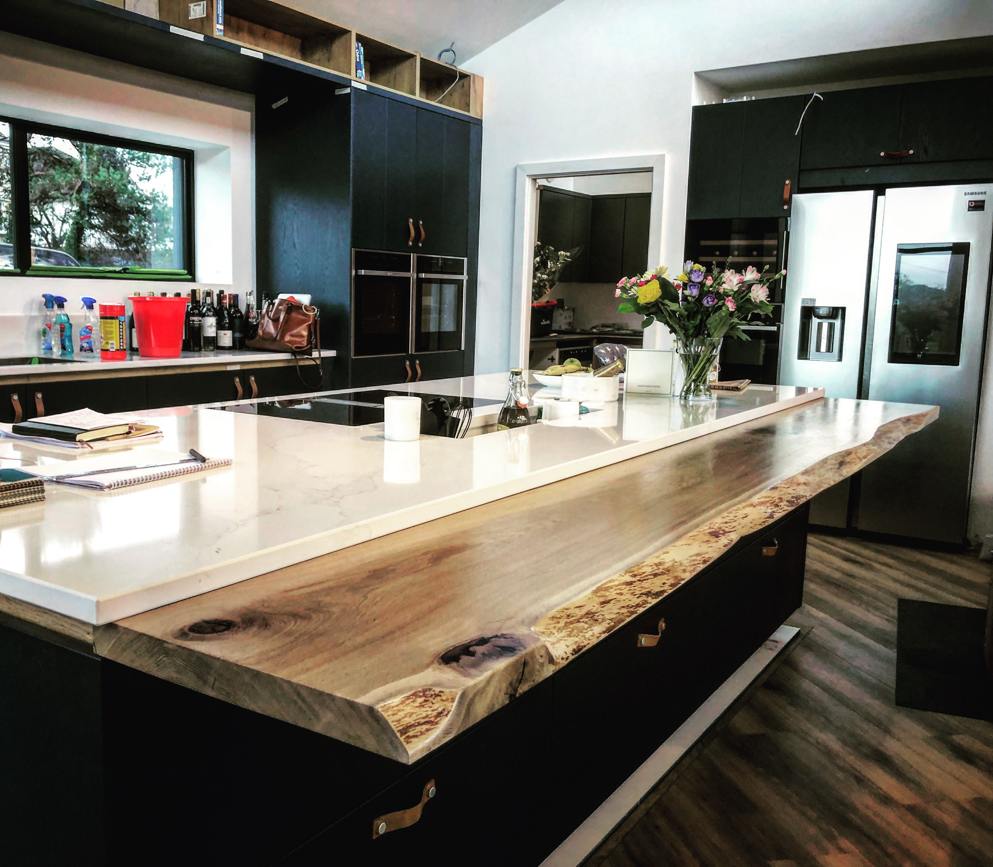 Earthy Timber England   Live Edge Breakfast Bar   Large dining ...