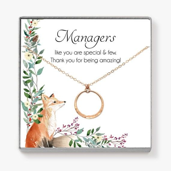 Boss Gift Thank You Gift Manager Gifts Circle Necklace