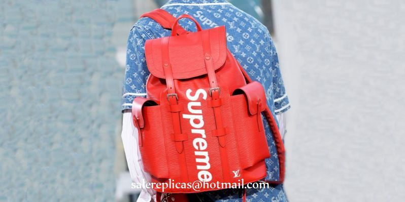 Louis Vuitton Supreme Christopher Backpack - Red epi Leather  464dba695d14a