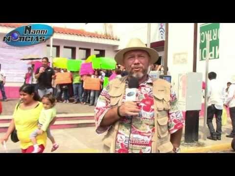 Manifestación de trabajadores del sector salud en Veracruz