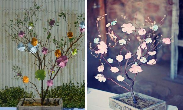 Entzuckend Papier Blumen Selber Machen Als Baum Idee