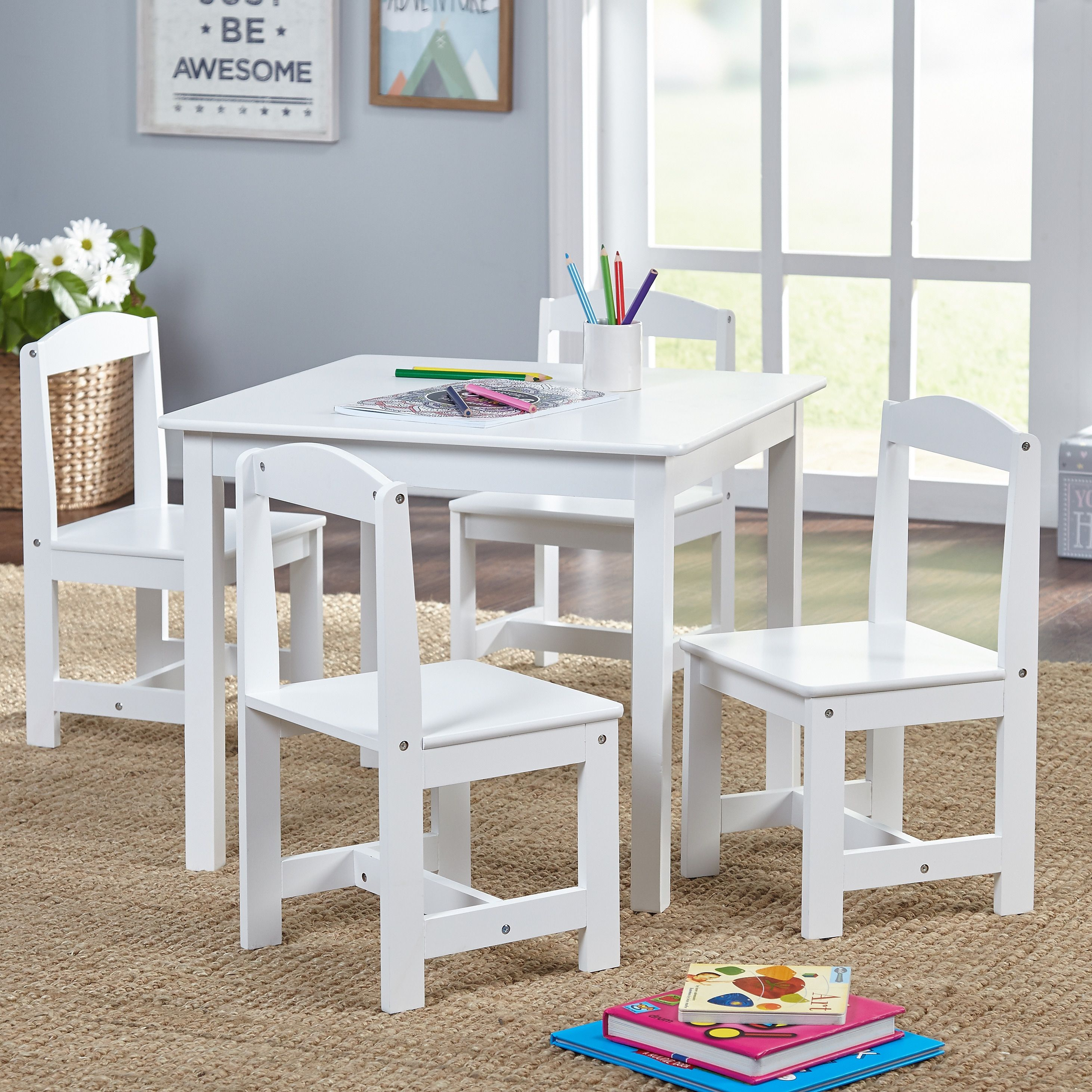 simple living hayden kids table and chair set in white as is item rh pinterest co uk
