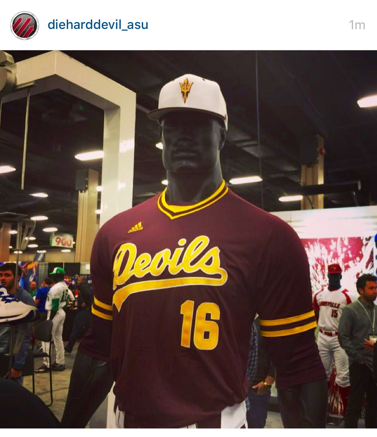 Some New Official Asu Baseball Jerseys From Adidas Note The White Hat Isn T Official They Will Use The Interlocking As A Arizona State University Hats Asu