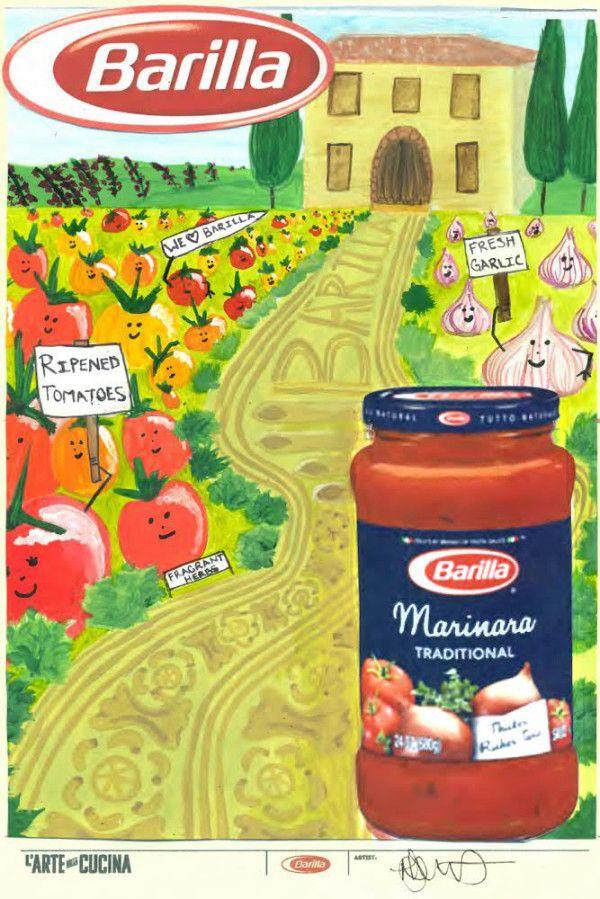 creative designs from the barilla larte della cucina poster design contest