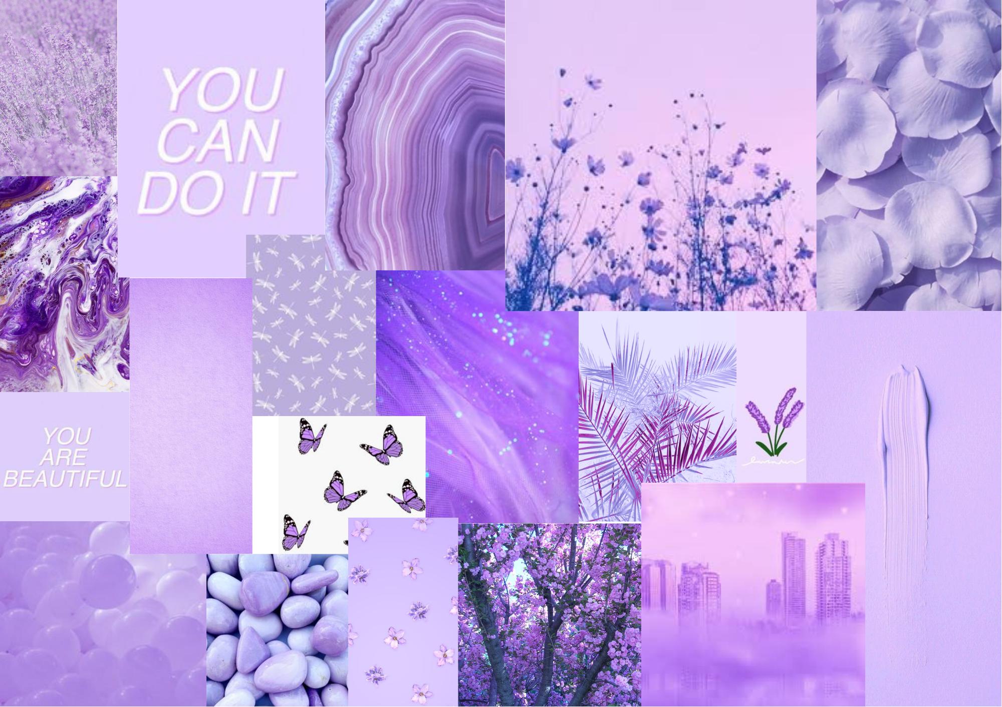 Lavender Themed Chromebook Collage Wallpaper Wallpaper Lavender Theme