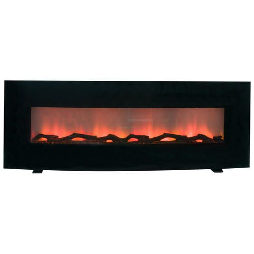 60 curved linear electric fireplace wall mount or free standing rh pinterest com