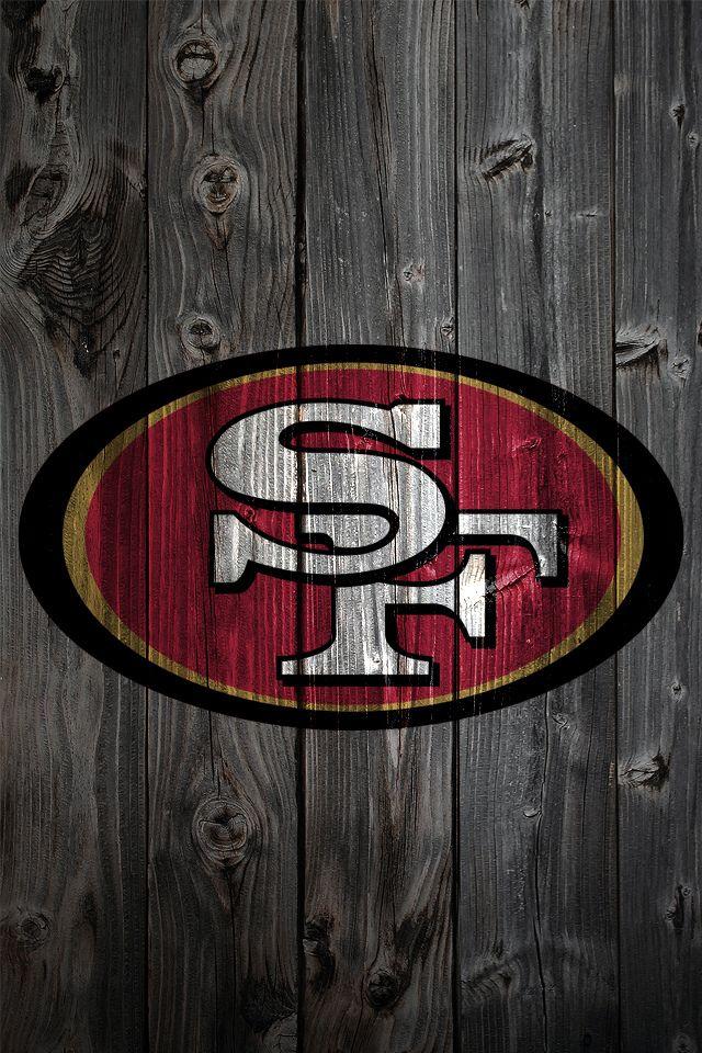 San Francisco 49ers Wood iPhone 4 Background Fondo de