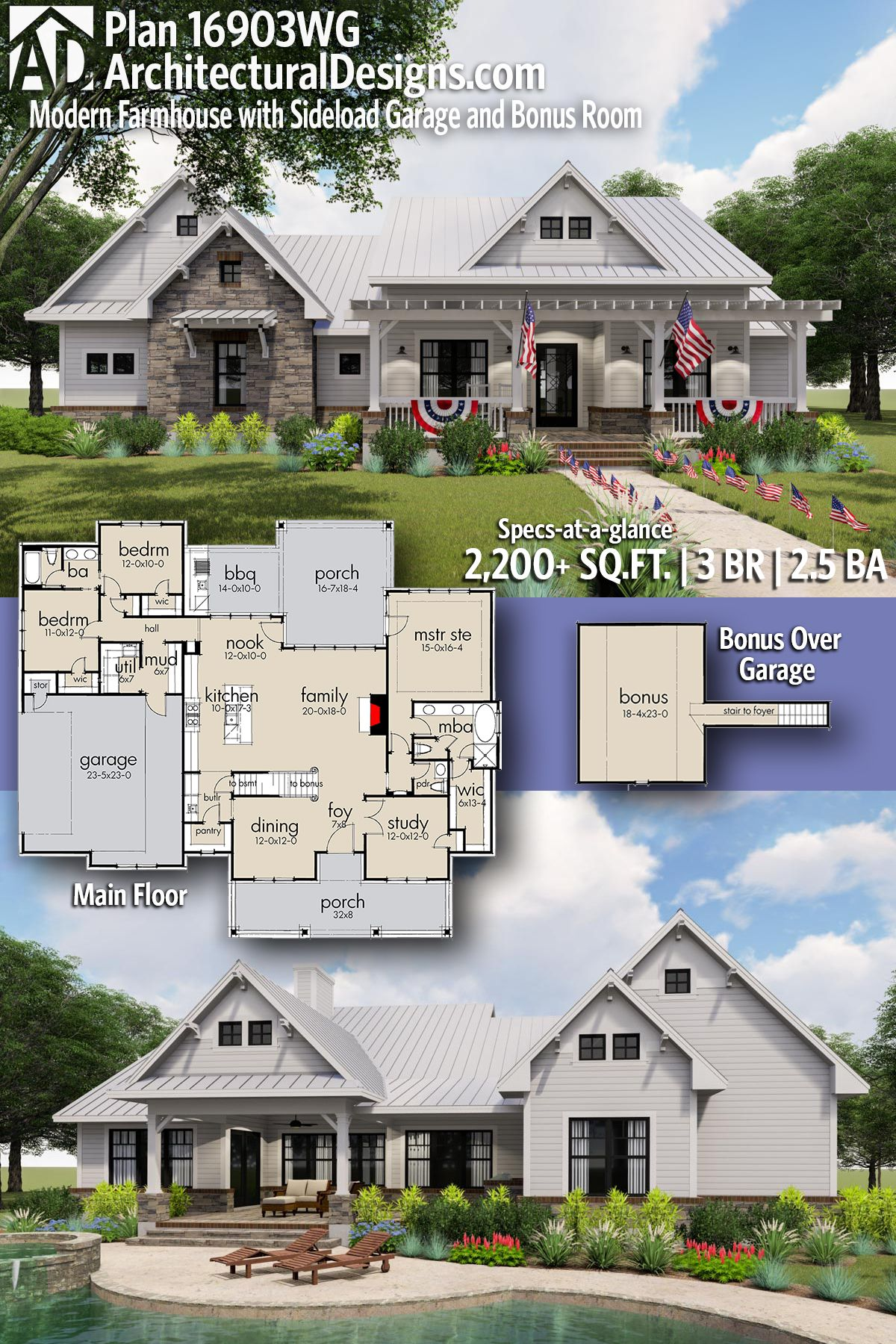 Introducing Architectural Designs Modern Farmhouse House Plan