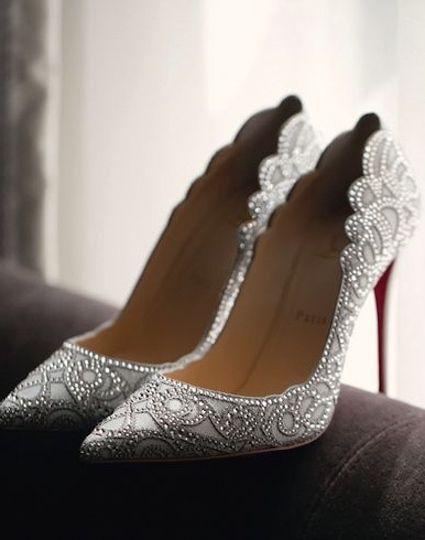 24f3da91a1cf Silver embellished bridal heels shoes