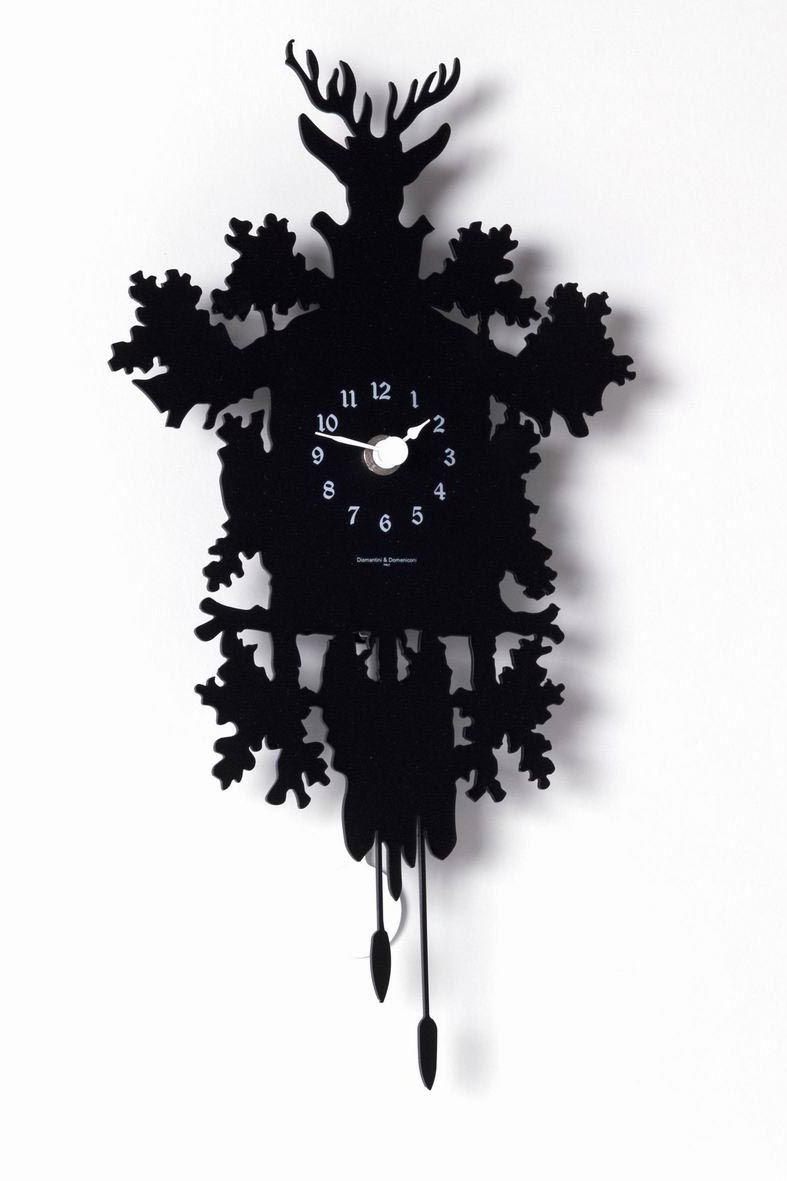 Coucou Mignon Pendule En Metal Decoupe Noir Horloges Et Pendules Design Diamantini Domeniconi Ref 11050031 Horloge Horloge Murale Coucou Suisse