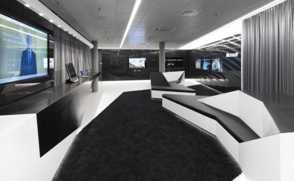 Innovatives Interieur Design des Briefing Zentrums von Microsoft ...