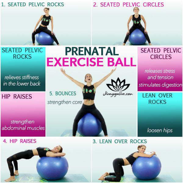 Yoga Ball Pregnancy Exercises - Jivayogalive