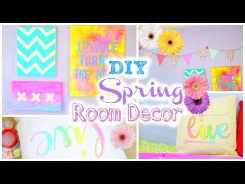 DIY Room Decor For Spring | Tumblr Inspired   YouTube | Tumblr Room Ideas |  Pinterest | Diy Room Décor, Room Decor And Room