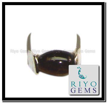 Gemstone handmade Fine quality Tiger eye Silver Ring from Riyo Gems www.riyogems.com