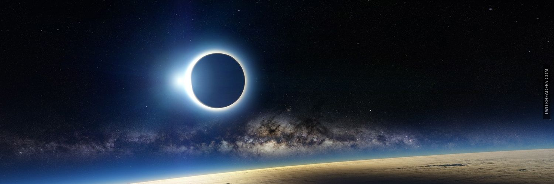 Solar Eclipse Twitter Header Cover - TwitrHeaders.com
