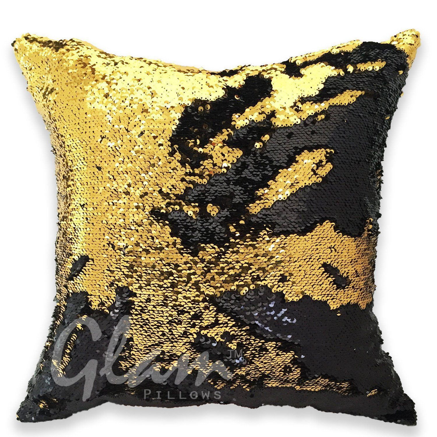 gold black reversible sequin glam pillow products rh pinterest at