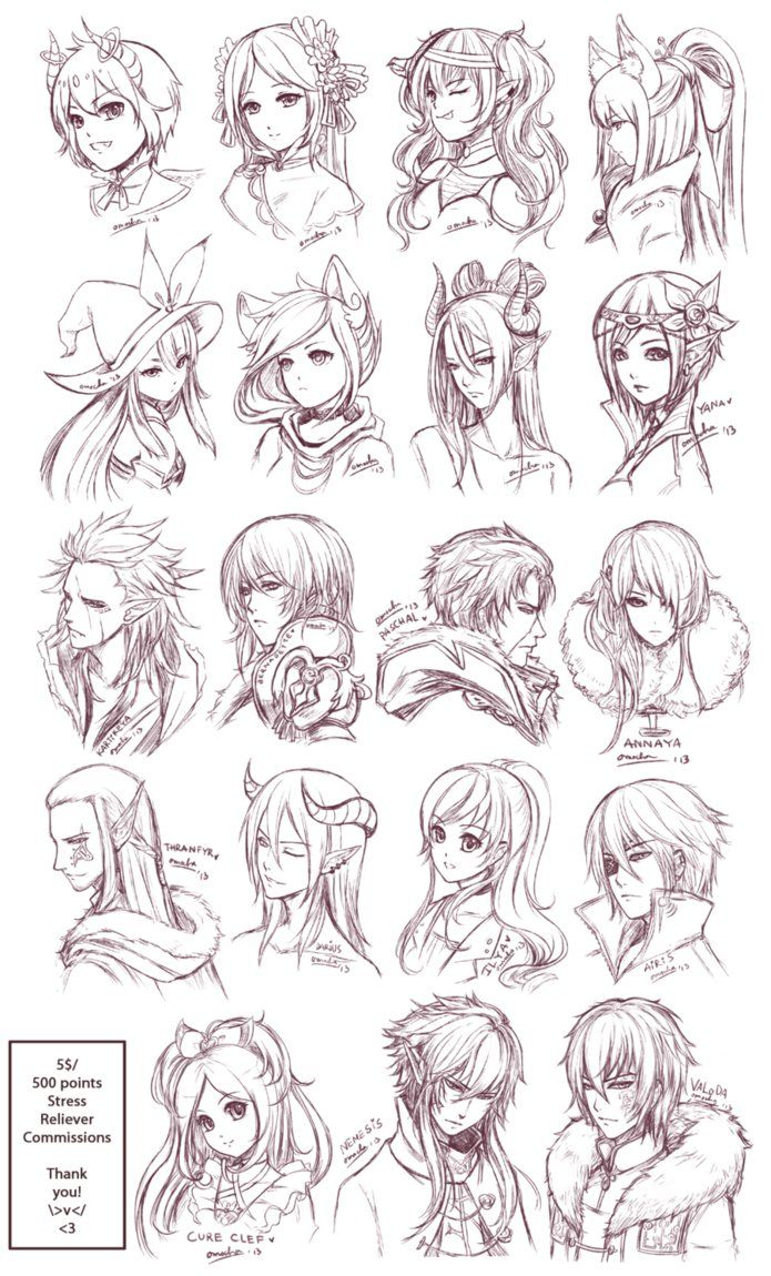 Src Batch6 By Zenithomocha On Deviantart Sketch Head Art Drawings Sketches Drawing Sketches