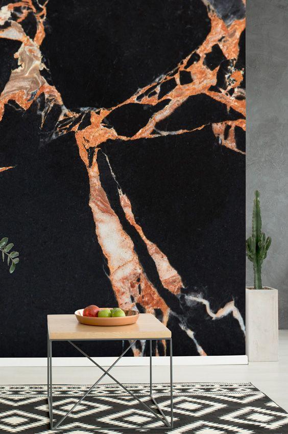 Dark Marble And Brown Wallpaper Wallsauce Uk Brown Wallpaper Marble Wallpaper Marble Wall Mural