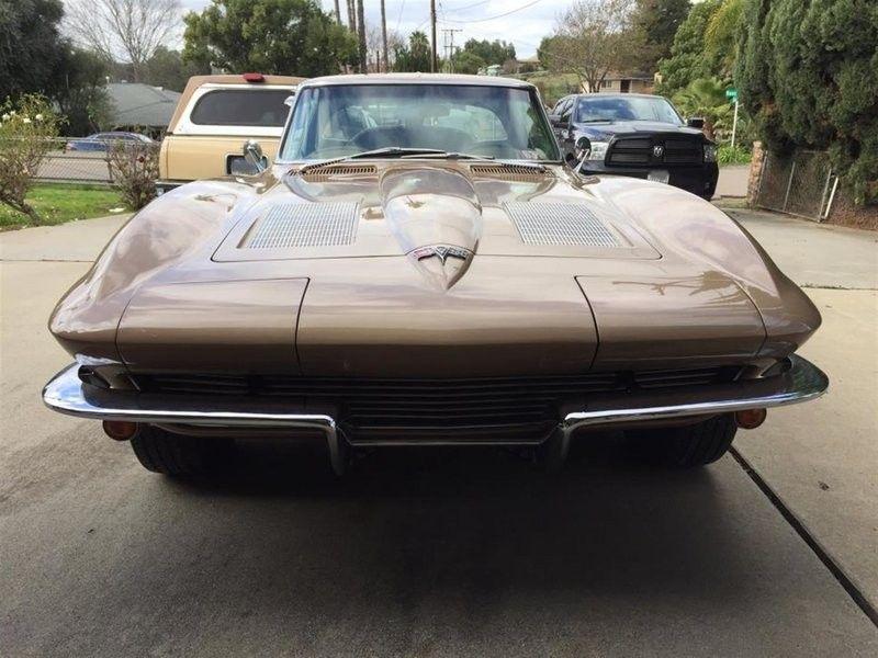 1963 corvette split window rare saddle tan corvette and corvette rh pinterest com