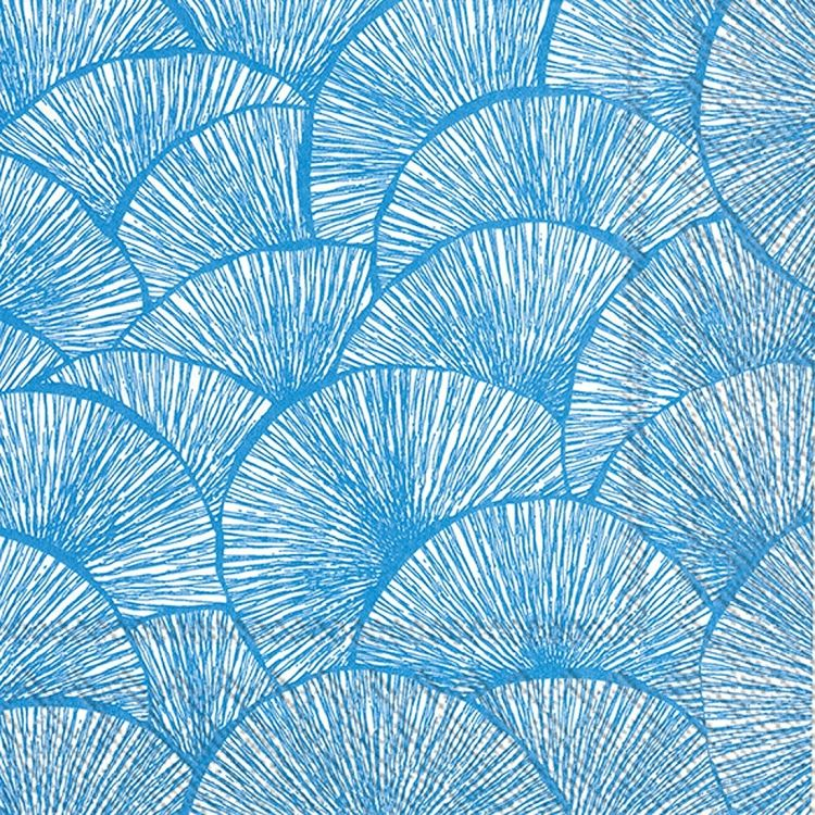 IHR Lignes Blue and White Geometric Printed 3-Ply Paper Cocktail Napkins Wholesale C604840