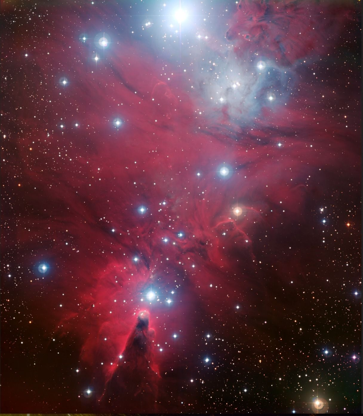 The Christmas Tree Cluster NGC 2264. Located 2,700 light