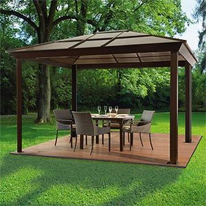 costco gazebo newest aluminum gazebo gazebo metal pergola rh pinterest com