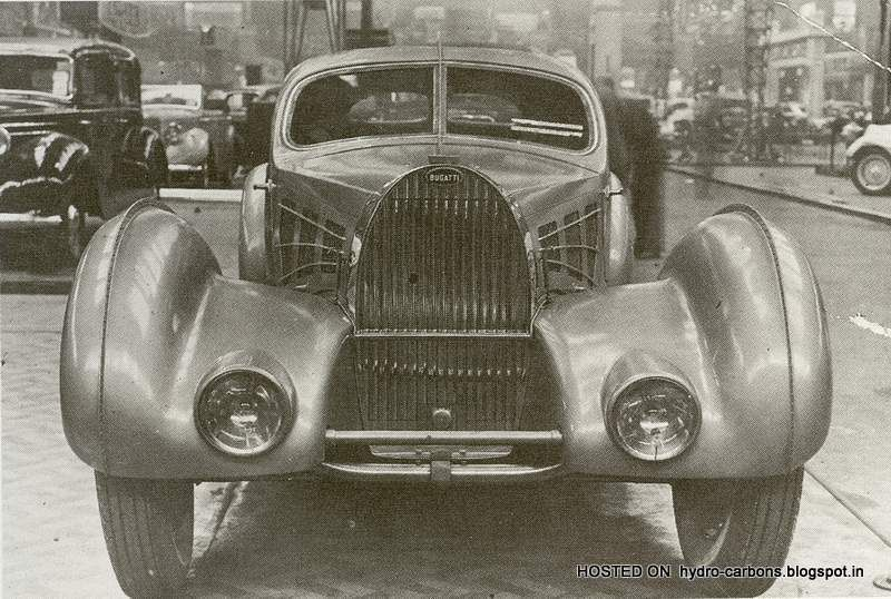 "The engineering on these Atlantics was similar to the other ""Bugatti"" - 1936 Type 57 SC Atlantic Coupe which formed a basis for Bugatti competition and grand touring. Description from greaseandgasoline.blogspot.com. I searched for this on bing.com/images"