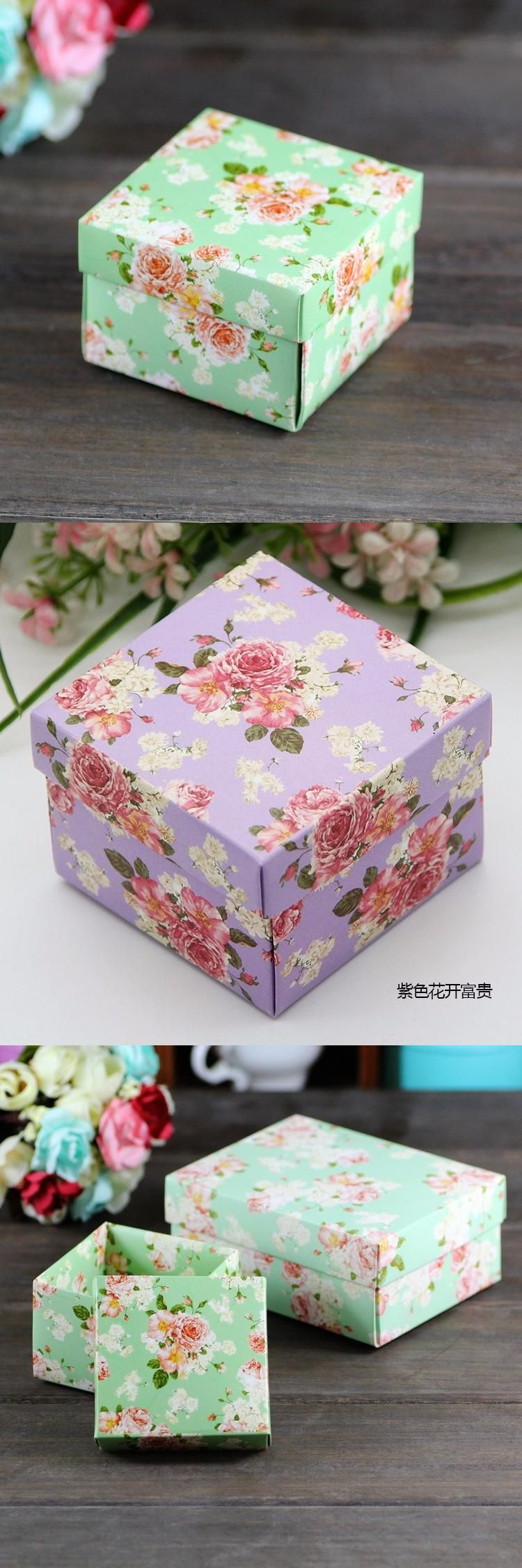50pcslot full flower candy box for wedding