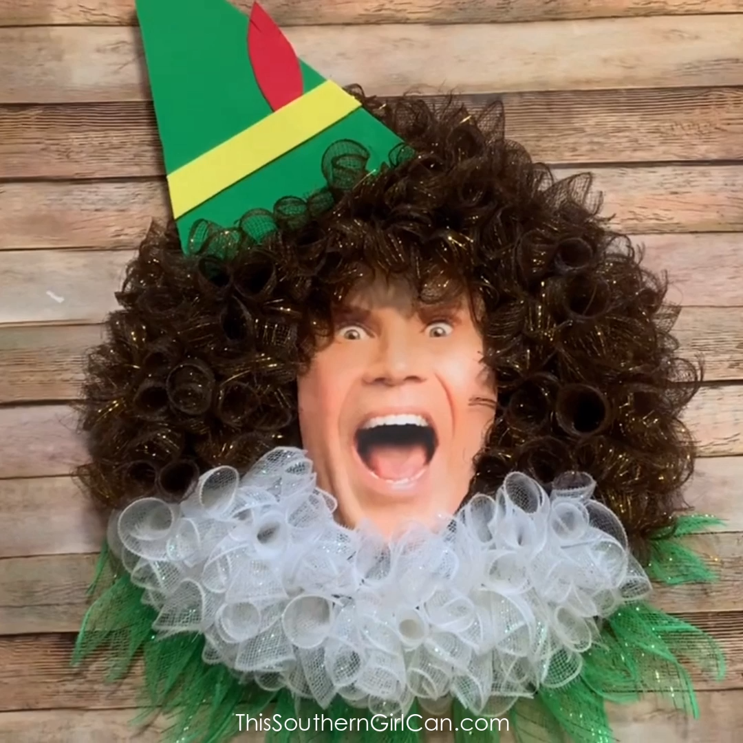 Deco Mesh Buddy the Elf Wreath
