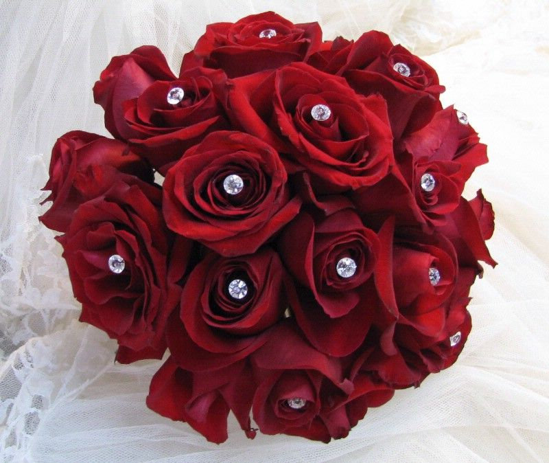 Gallery For Gt Maroon Rose Bouquet Red Flower Bouquet Red