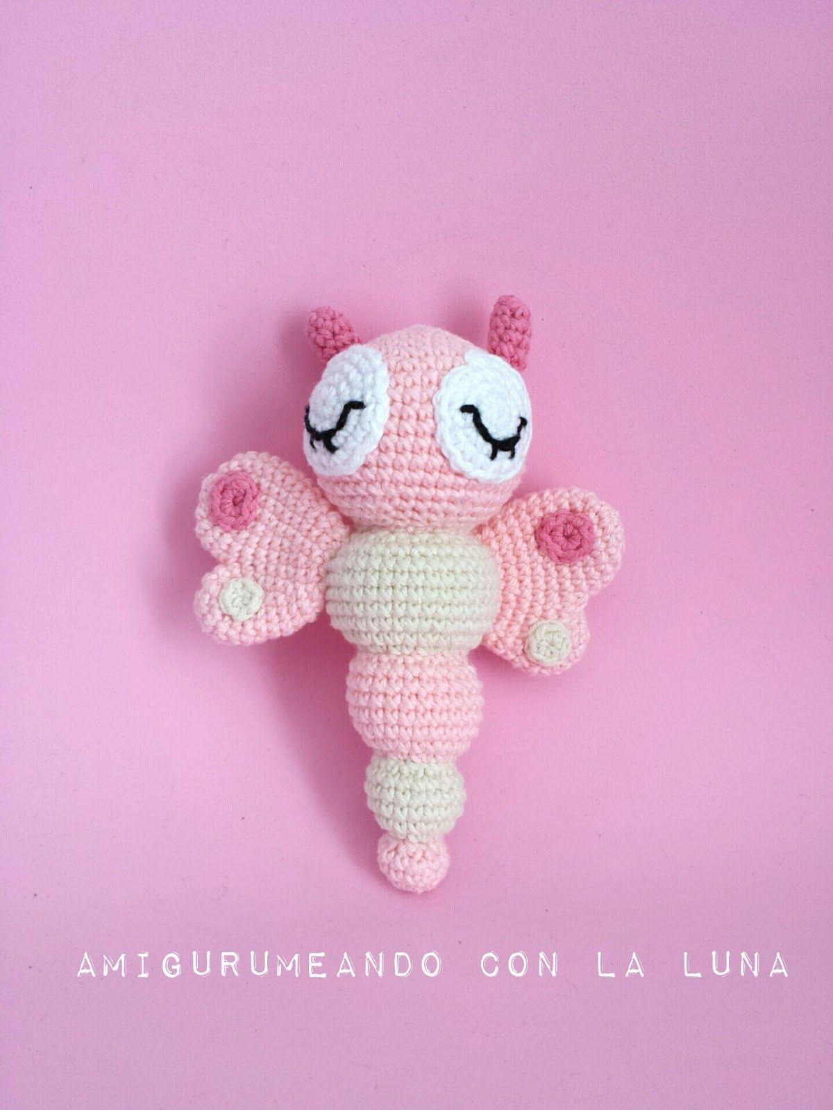 Mariposa sonajero amigurumi | tejidos | Pinterest | Sonajero ...