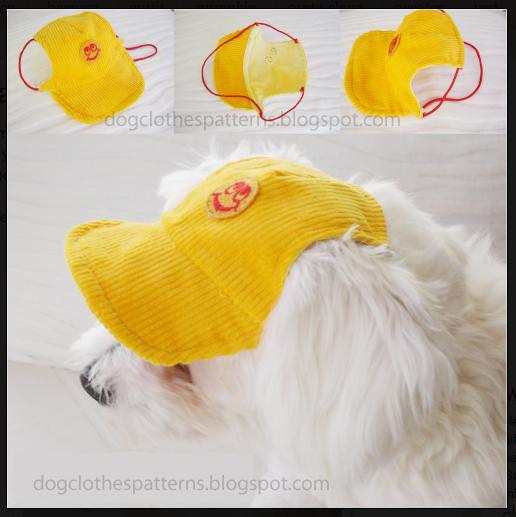 gorras para perros, con patrón! | perros y gatos | Pinterest