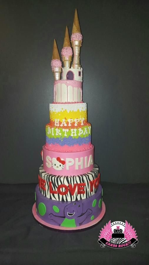 Cool Sophias 7 Tier Birthday Cake Cake By Cakes Rock Tiered Funny Birthday Cards Online Inifofree Goldxyz