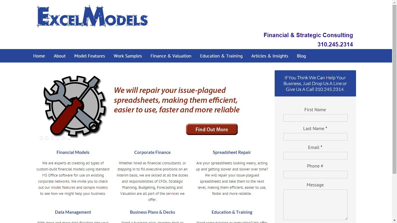 At ExcelModels, we build financial software, business