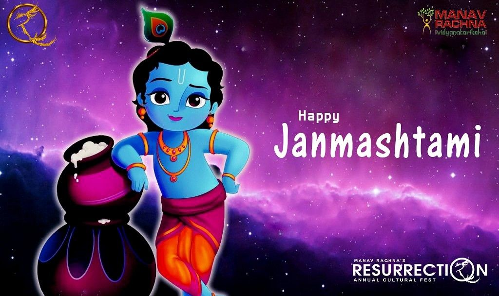 The Natkhat Nandlal Always Give You Many Reasons To Be Happy And May You Find Peace In Krishna Co Happy Janmashtami Happy Janmashtami Image Janmashtami Wishes