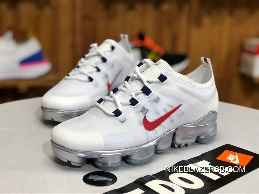 6e471b336 Nike NiKE2019 Steam Pad Air VaporMax Running Breathable Running Shoes White  Red Ar6632-006 Size Best