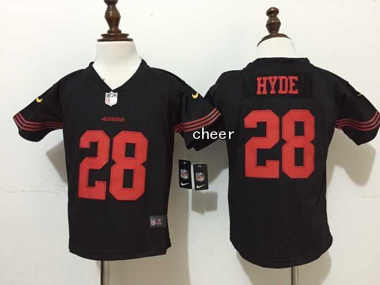 35d5d5b75 NFL San Francisco 49ers  28 hyde black Kid Jersey