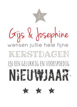 Kerstkaart eigen tekst www.fientje-en-co.nl