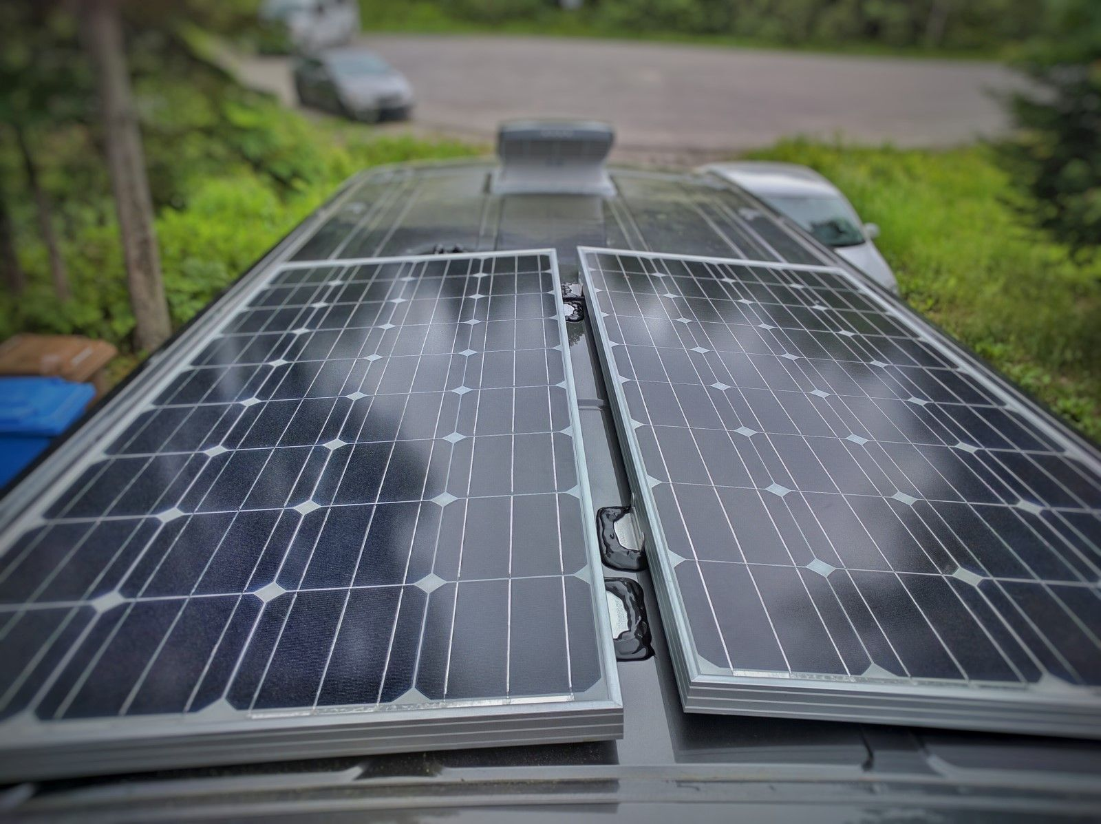 How To Install Solar Panels On A Camper Van Conversion With 3m Vhb Tape No Holes Faroutride Solar Panels Solar Panel Installation Best Solar Panels