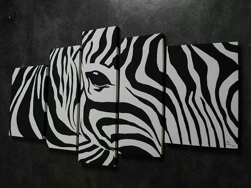 Cebra cuadro | decoración | Pinterest | Cebras, Cuadro y Abstracto
