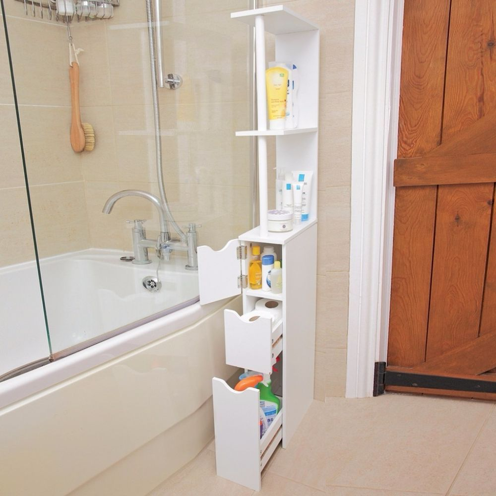 Bathroom Storage Tower Tall Slim E