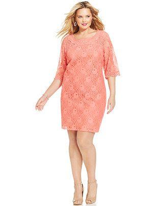 Easter dress Spense Plus Size Three-Quarter-Sleeve Lace Dress ...