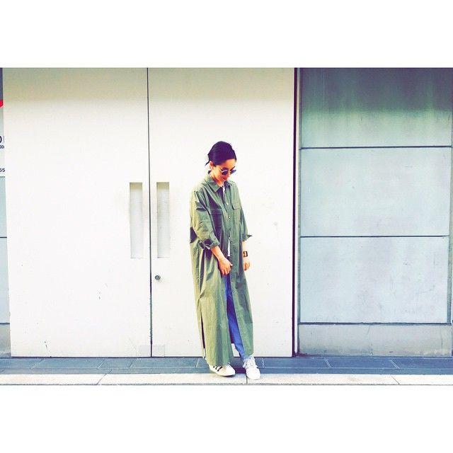さらっと羽織っても、ワンピとして着ても良し。  CHEEKY//SARAH SAFARI SHIRTS  #cheekycleopatra #今週末発売です