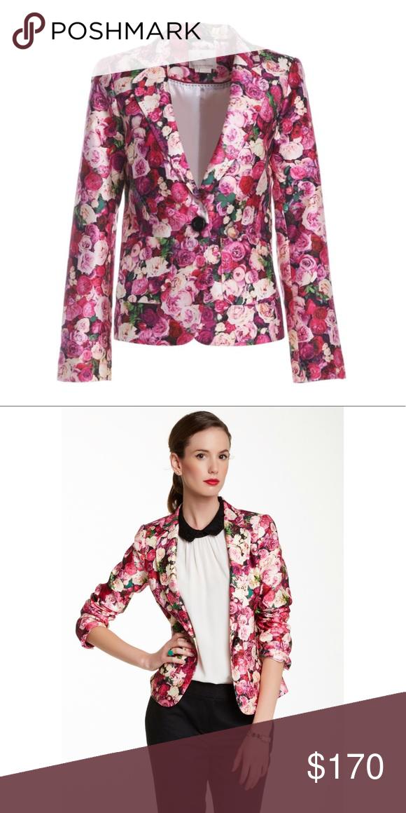 d408606c Kate Spade Rose Print Millie Blazer 6 Kate Spade rose print Millie blazer,  size 6