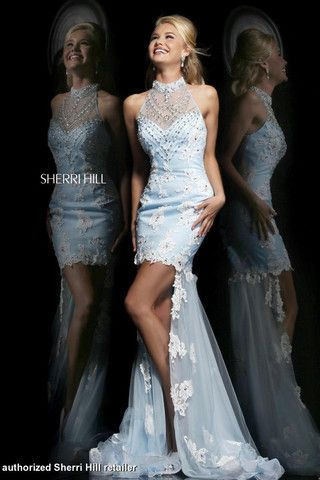 Sherri Hill  #SherriHill #Shortdress #Highlow #Promdress #VintageDress #Fashion #Style #Raelynns