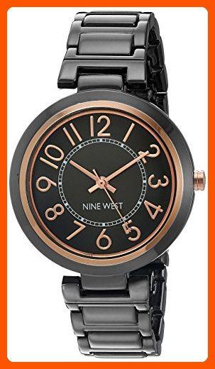 Nine West Women s NW 1893GNRT Easy To Read Dial Gunmetal Bracelet Watch -  All about women ( Amazon Partner-Link) 1cf9759049
