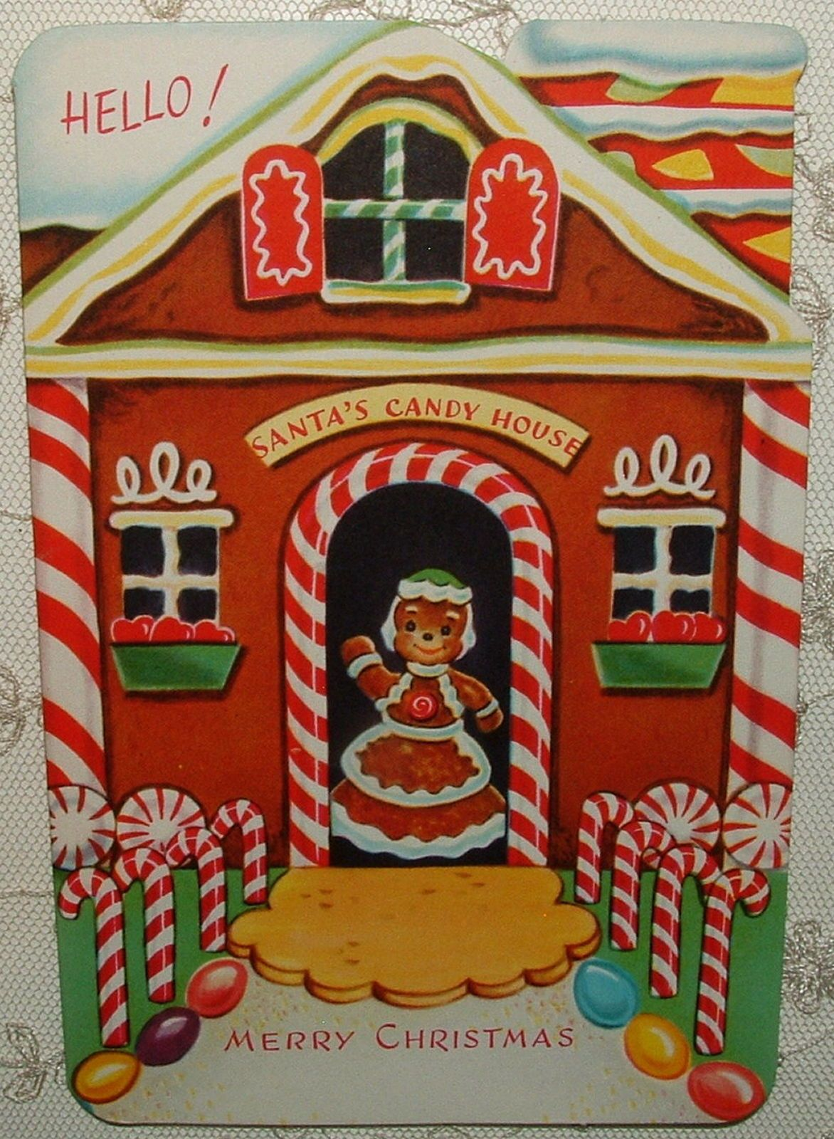 Mary Frances Candy Lane Gingerbread House Xmas Holiday Red Bag Black Bag New 349 00 Vintage Christmas Cards Vintage Christmas Greeting Cards Vintage Christmas