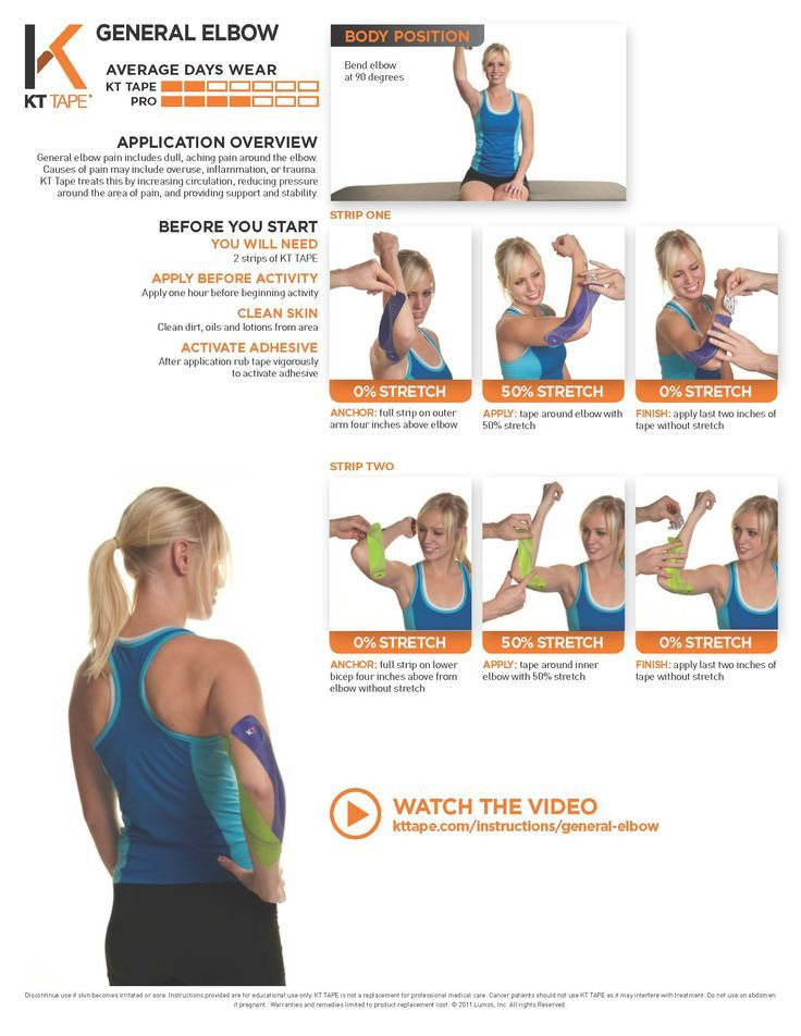General Elbow KT Tape treats this by increasing